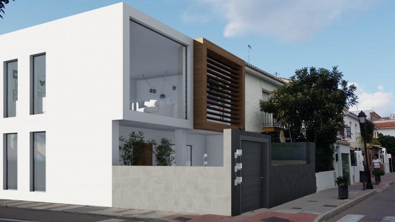 Restauración de una casa terraza